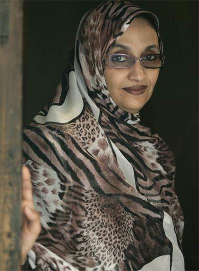 La activista del independentismo saharaui Aminatou Haidar