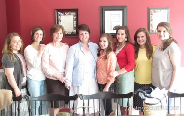 my sister-in-law, my sister, my Mom, me, my daughter, my niece, more of my beautiful daughters - what a special gift to be girls!