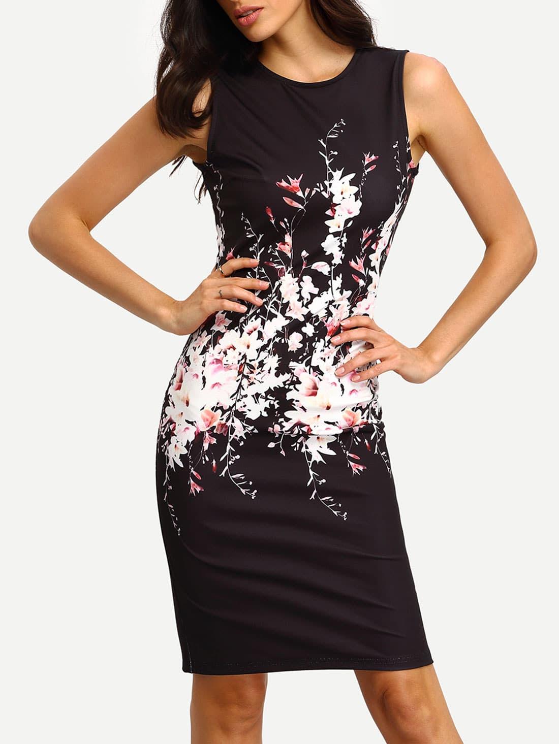 Black bodycon dress shein