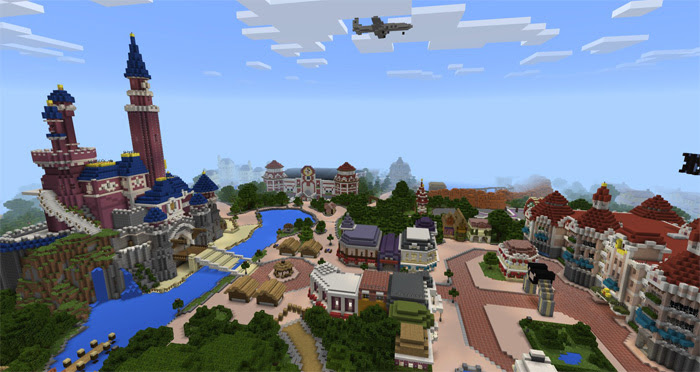 Disneypark Theme Park Creation Minecraft Pe Maps
