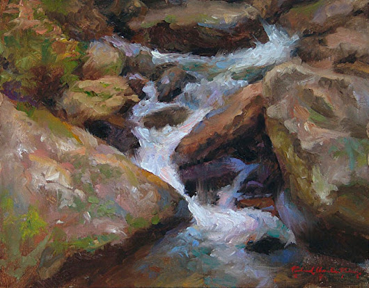 Colt Creek (2015) Oil painting by Richard  Nelson