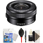 Sony E PZ 16-50mm f/3.5-5.6 OSS Lens with Accessory Kit for Sony E-Mount Cameras