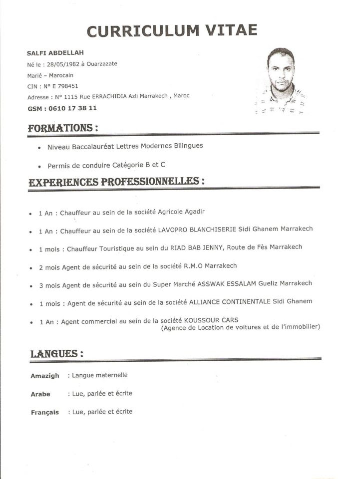 lettre demande d u0026 39 emploi chauffeur
