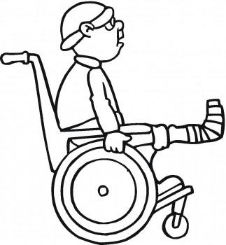 Broken Leg coloring page | Super Coloring