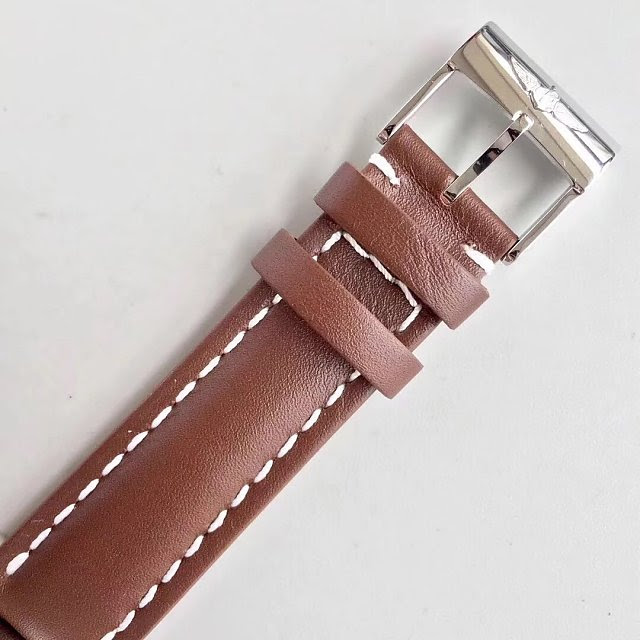 Breitling Transocean Day Date Brown Leather