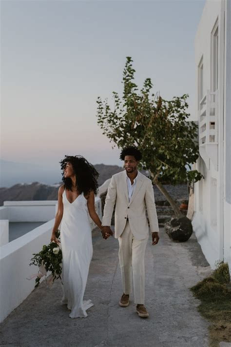 Breathtaking Santorini Elopement at Kapari Natural Resort