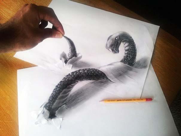 Εκπληκτικές 3D ζωγραφιές που «βγαίνουν» απ' το χαρτί (33)