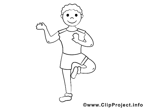Clip art gratuit yoga – Sport  imprimer