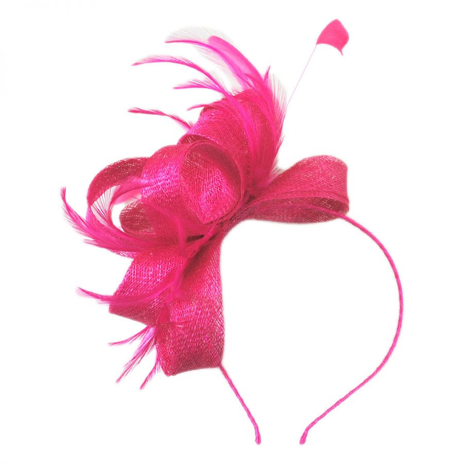 loop and feather fascinator headband