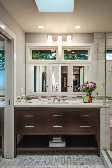 Berkeley Brown Shingle - Transitional - Bathroom - san francisco - by Design Set Match