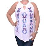 INC International Concepts Women's Embellished Halter Top Size L