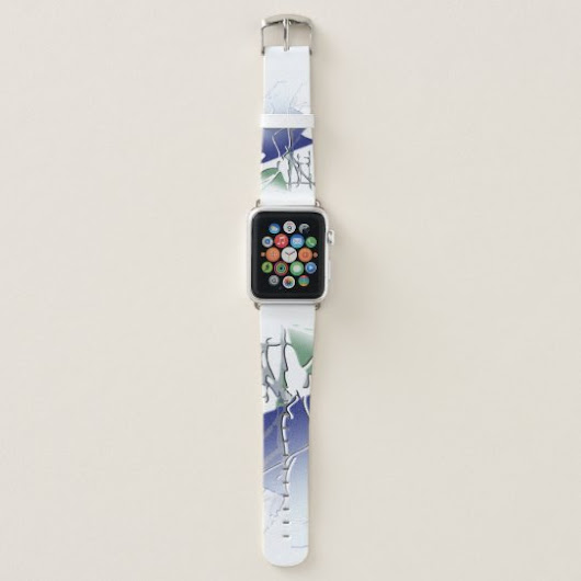 abstract ice floe apple watch band
