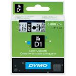 Dymo S0720770 D1 Tape 6mm Black on Transparent