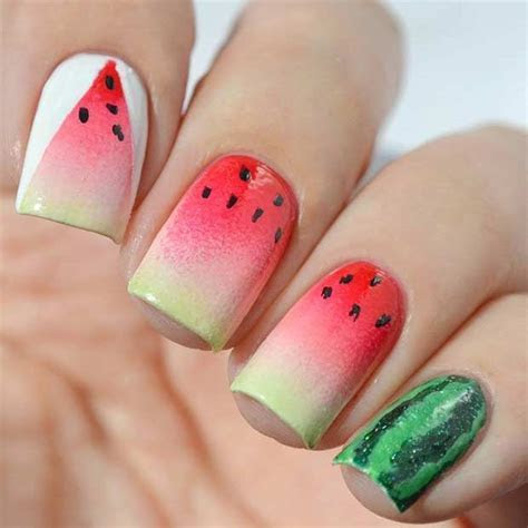 30 Juicy Watermelon Nails   Nail Design Ideaz
