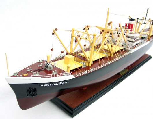 American Scout Cargo Ship Model