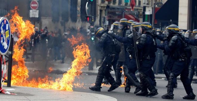 Disturbios de la manifestación del Primero de Mayo en París. REUTERS/Gonzalo Fuentes