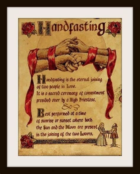 handfasting ceremony     it is common time for pagan