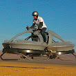 Star Wars gets real: The astonishing video that shows a hoverbike flying through the desert (and the firm behind it says flying one is as easy as riding a bike)