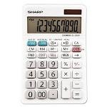 Sharp EL-330WB Desktop Calculator, 10-Digit LCD Display (SHREL330WB)