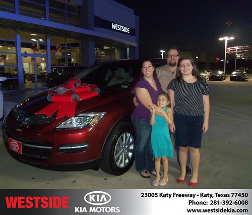 Thank you to Andrea Wells on the 2009 Mazda CX-9 from Gilbert Guzman and everyone at Westside Kia!