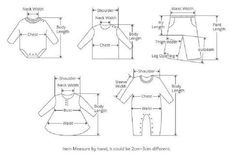 رسم شجري لقطع الملابس