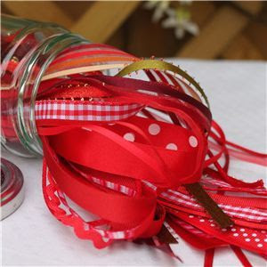 Jam Pot Ribbons - Cherry