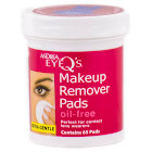 Andrea Eye Q's Makeup Remover Pads, Oil-Free - 65 count