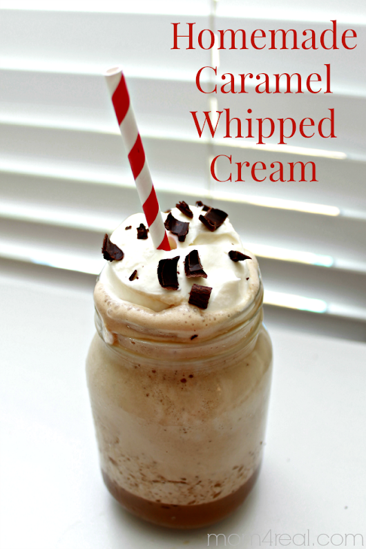 Homemade Caramel Whipped Cream - Mom 4 Real