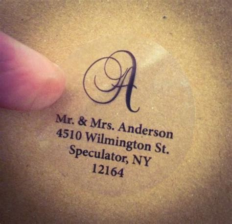 CLEAR SCRIPT MONOGRAM Address Labels For Wedding