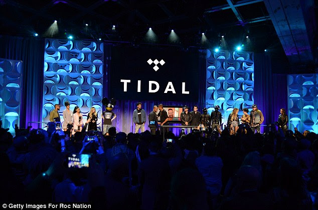 Big day: Unlike, popular music service Spotify, Tidal will not have a free tier
