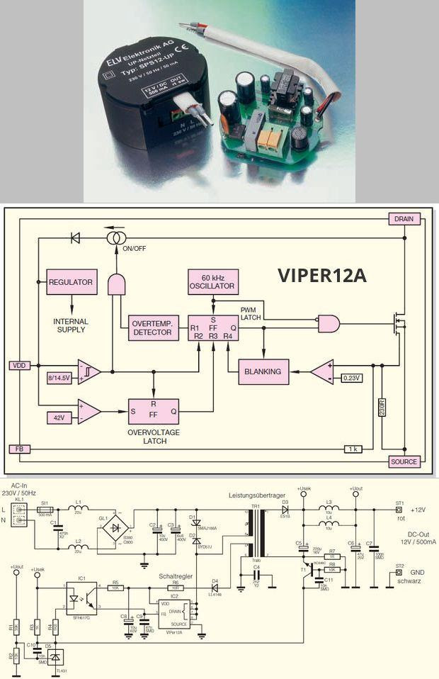 SMPS-mạch-to-12V-500mA viper12-SMPS-6W-SMPS-SMPS mạch