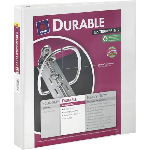 google express avery binder durable clear cover 1 1 2 inch