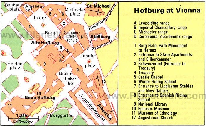Resultado de imagen de hofburg wien maps