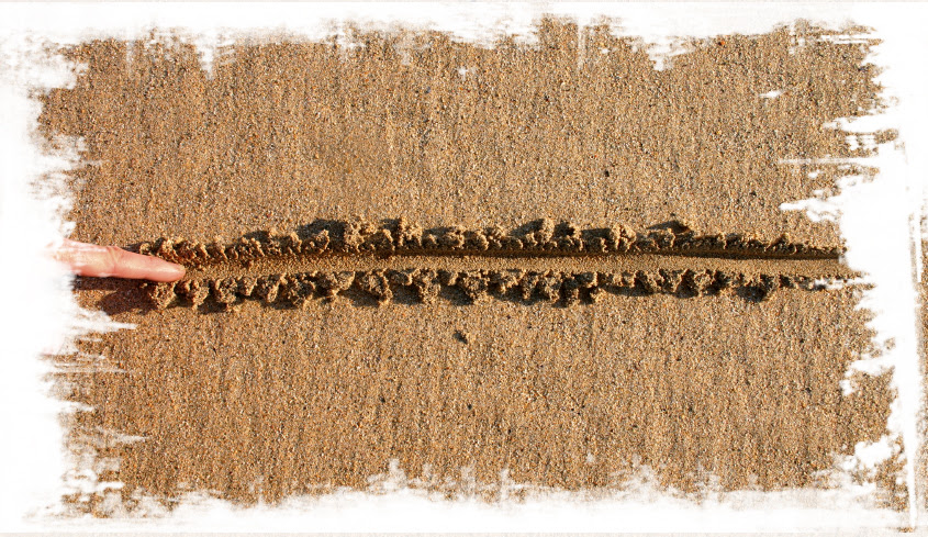 Drawing a line in the sand.  An old metaphor.