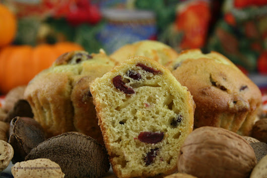 Cranberry Orange Muffins - A Boy a Girl and a Kitchen