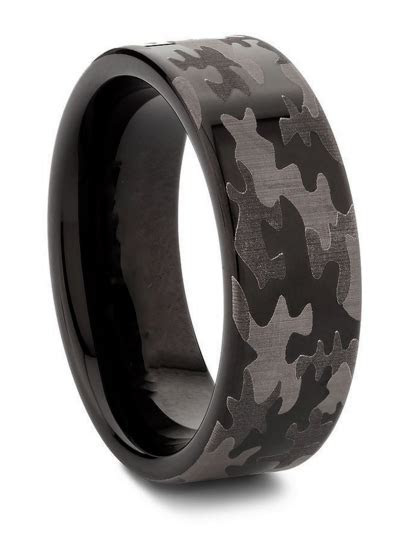 Military Camouflage Tungsten Wedding Ring   Products