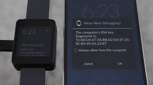 How to Enable USB Debugging on the LG G Watch -