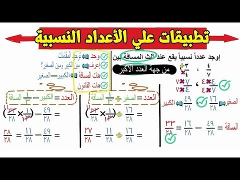 تطبيقات علي الاعداد النسبية اولي اعدادي جبر