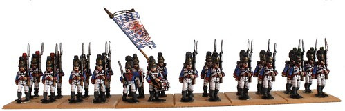 Bavarian Regiment 1, König (bases unfinished)