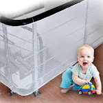 Stairway Net - Baby Safety Rail - 3m L x 0.9m H - Bannister Stair Net for Child, Small pet,Toy- Indoor & Outdoor