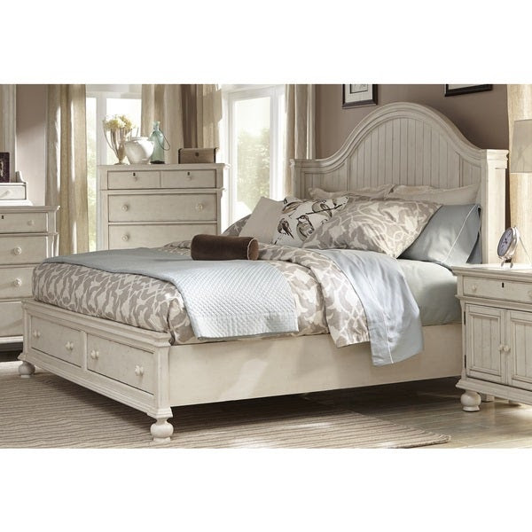 Bed Frame with Storage Platform Queen King Size Coastal ...