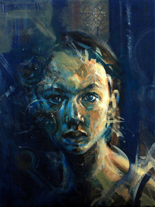"Saatchi Art Artist: Pavle Maksimovic; Acrylic 2015 Painting ""Portrait of a girl"""