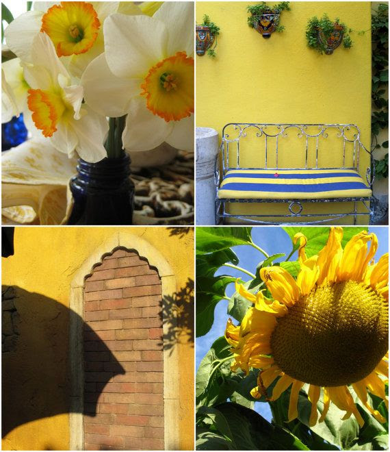 Blue and Yellow Monet Inspired Photography Collection by Suzanne MacCrone Rogers via ItalianGirlinGeorgia on Etsy