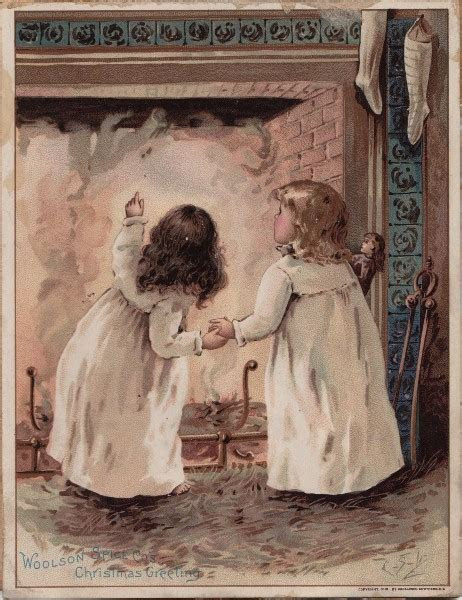 Christmas Eve   Victorian Advertsing Card   The Graphics Fairy