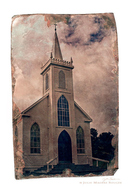 Church photography of the famous white church in Bodega, California.