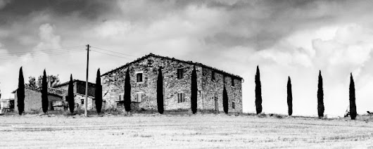 Tuscan hill (2007) Black & white photograph (C-Type) by Paul Ottavio