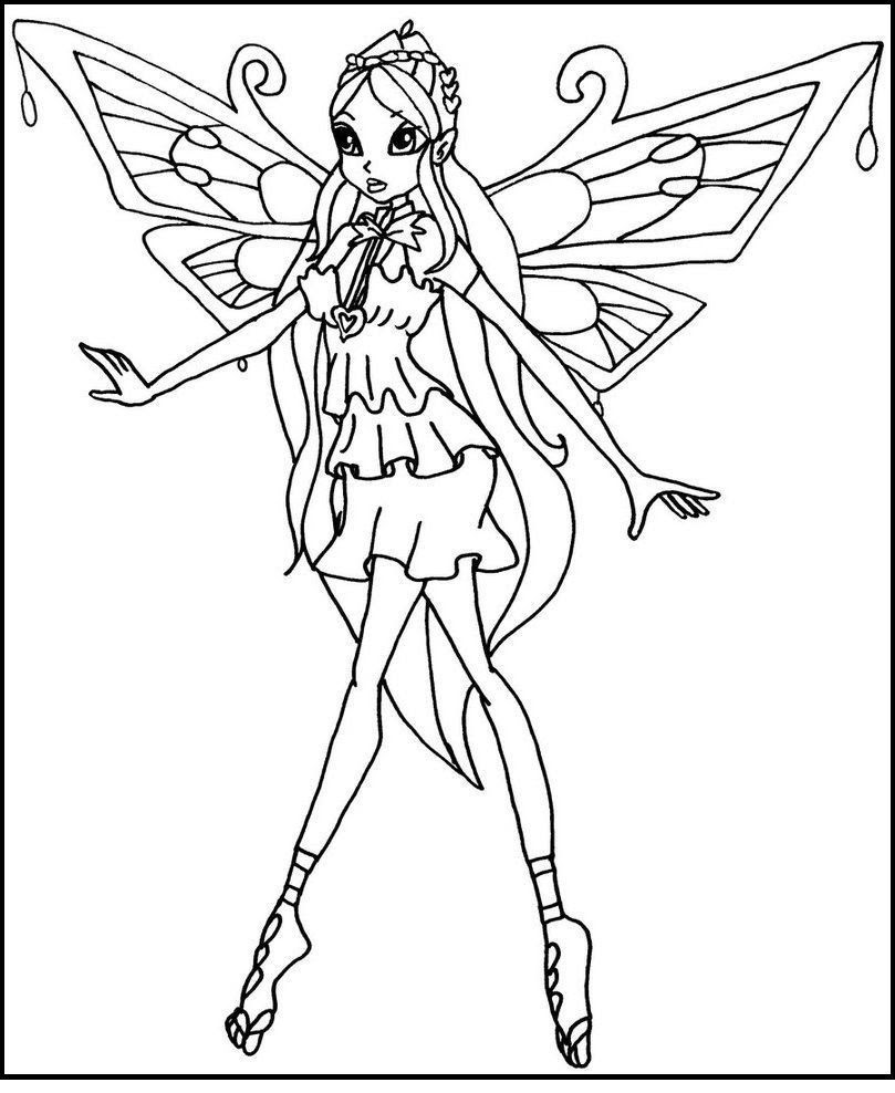 Winx Club Bloom Coloring Pages at GetColorings.com | Free ...