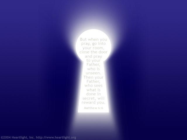 Inspirational illustration of Matthew 6:6
