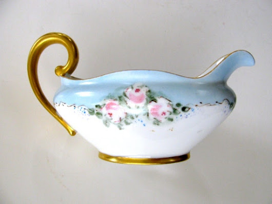 Antique Creamer T&V France Limoges Hand Painted by BlueMoonAttic