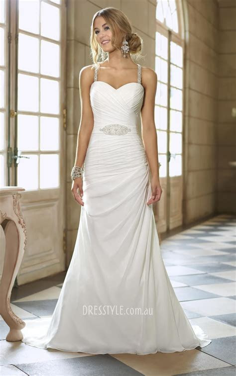 sleeveless slim a line low back ruched bodice sheer beaded